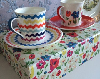 Cath Kidston teacups and saucers ssented soy candles. Boxed pair
