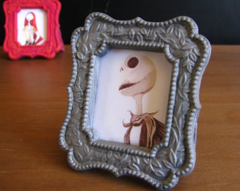 Handmade Jack Skellington and Sally Nightmare Before Christmas Couple Pictures and Frames