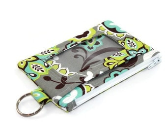 Floral ID Wallet / Keychain ID Wallet / ID Holder