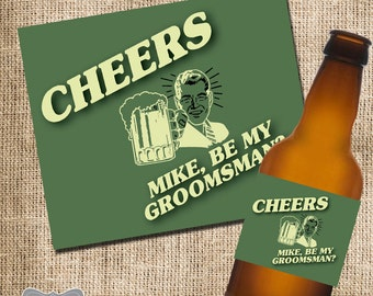 Groomsman Beer Bottle Labels, Wedding Beer Labels, Will You Be My Groomsman Beer, Groomsman Beer Label, Asking Bridal Party
