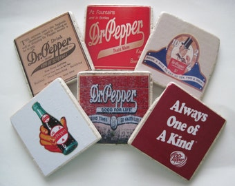 Dr. Pepper Coasters Vintage -  Set of 6