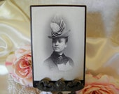 Victorian Woman with Hat Cabinet Card Photo