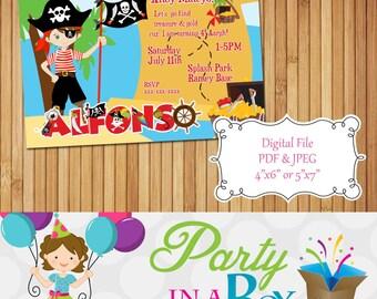 Pirate Invitation DIY Printable Digital File