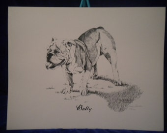 BULLY by Carolyn Robertson.... Art print, numbered....1982...SALE!!