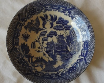 "Vintage Japanese  Blue and White  Bowl 5 1/4""  CL23-29"