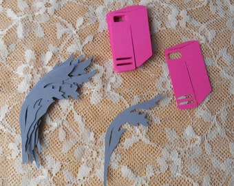 Books and Quil Pen Paper Die Cuts in your choice of colors