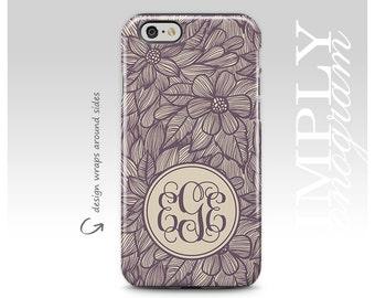 iPhone 7 Plus Case, Galaxy S8 Case, iPhone 7 Case, iPhone X Case, Samsung Galaxy Case, iPhone 8 Case, Personalized, Floral, Monogram