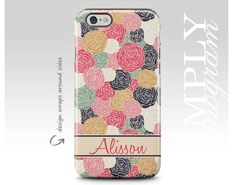 iPhone X Case, iPhone 7 Plus Case, iPhone 7 Case, iPhone 8 Case, Samsung Galaxy Case, Galaxy S8 Case, Floral Pattern, Personalized Case