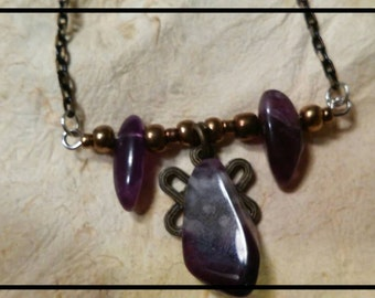 Amethyst Stone Chain Necklace