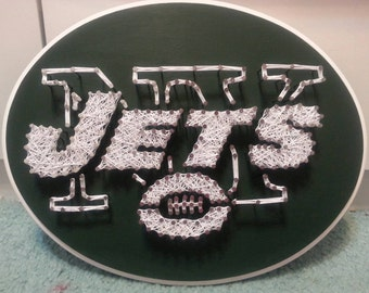 Football Oval New York Jets String Art Plaque