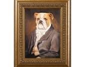 English Bulldog Art Magnet, Daniel Bullworth, English Bulldog Gifts Refrigerator Magnets