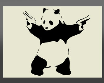 Banksy Panda Style - Various Sizes -Made From High Quality Mylar