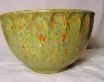 Confetti Boonton Melmac Scalloped Bowl, Great Color !!