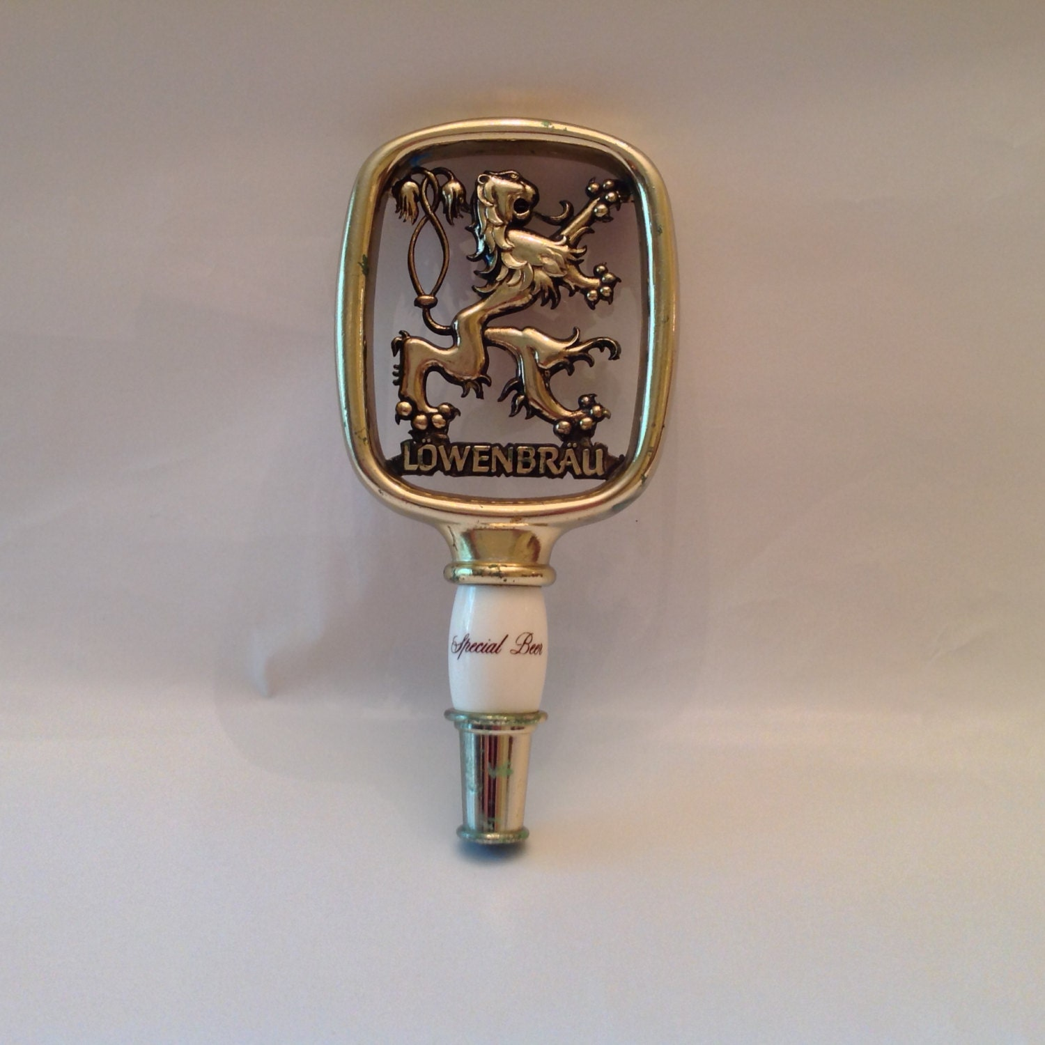 Vintage Rare Lowenbrau Beer Tap Handle With Lion Logo