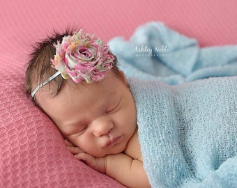 Baby headbands Vintage Spring Floral Shabby Chic Flower Headband  Photography Prop Newborn Baby Girl Headband