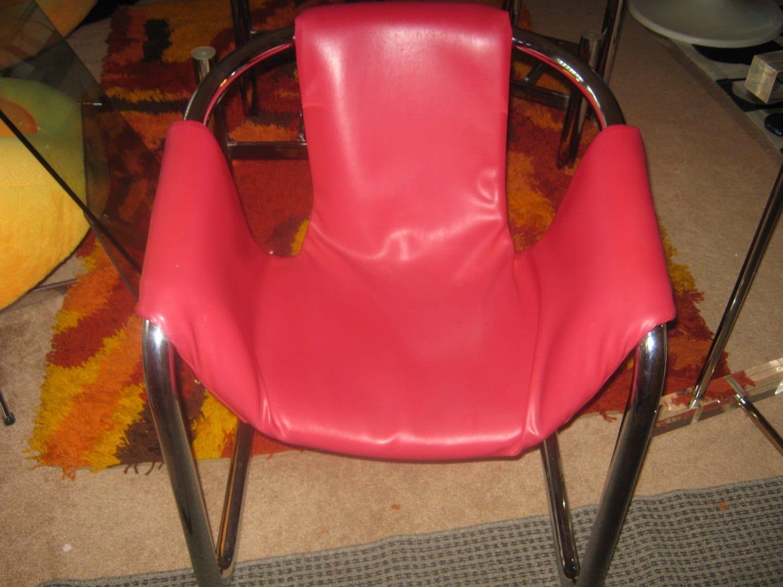 Superb Milo Baughman Tubular Chrome Frame Leather Sling Chair Evergreenethics Interior Chair Design Evergreenethicsorg