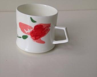 Mikasa mini small tulip teacup mug scandinavian spring floral home decor