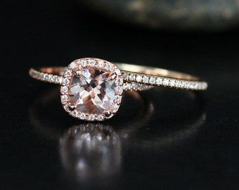 Dollar 200 DISCOUNT Stunning Morganite Engagement Ring Wedding