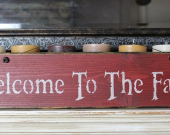 wooden sign, quote sign, welcome to the farm, rustic wood sign, wall hanging,wood sign,wood quote sign,rustic,custom wood sign