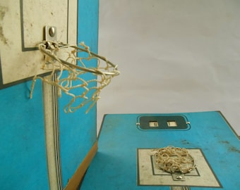 Soviet Vintage toy Mini basketball Set of 2 Russian sport toy Soviet game pieces USSR era 70s