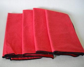 set of 4 cloth napkins