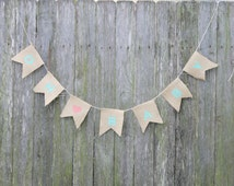 """Baby Shower Bunting. """"OH BABY"""" with Heart. Mint and Coral Baby Shower Decoration. Birth Announcement. Maternity Shoot. Newborn Photo Prop"""
