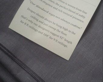 Linen Drape Curtain Grey Linen Drape Curtain