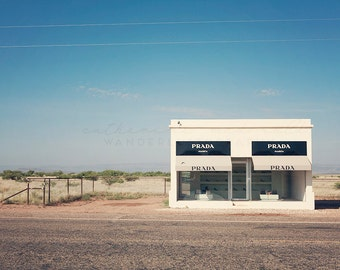 Prada Marfa Photography, Marfa Photograph,  Texas Print, Bohemian Home Decor, Fashion Art, Pastel wall hanging, large poster size, Boho