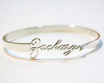 Custom Closed Bangle - Sterling Silver