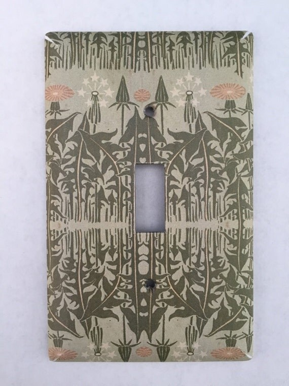 Dandelion Art Deco Light Switch Cover By Rustycanvas On Etsy