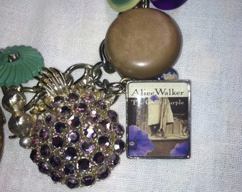 Banned books: vintage assemblage necklace