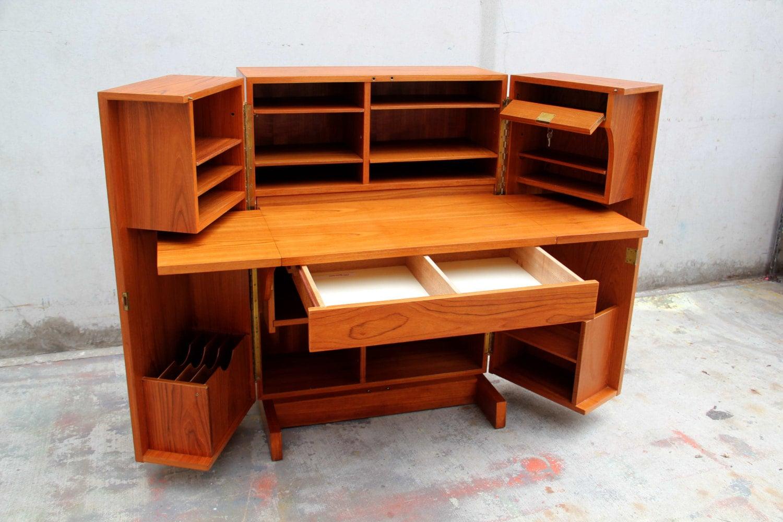 Mid Century Modern Secretary Desk