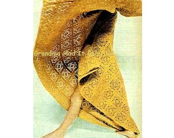 Vintage Crochet Pattern - Squares Afghan Crochet Blanket - Bedspread Crochet Pattern - PDF Instant Download - Digital Pattern - Couch Throw
