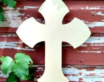 Unfinished MDF Wooden Cross #1