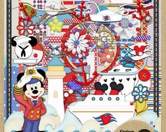 Mickey Sailor Digital Scrapbooking Kit from Carioca Digital