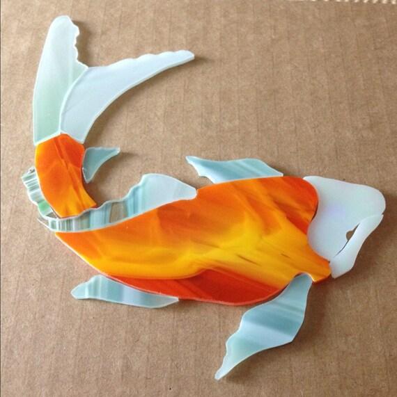 Items Similar To Precut Koi Fish Stained Glass Orange Kit