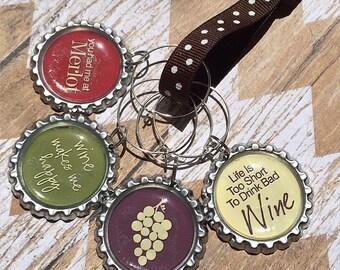 Wine Saying Wine Charms (Set of 4)
