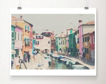 venice photograph burano photograph venice decor venice print burano print italian decor travel photography boat photograph