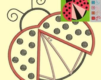 ladybug - applique - Machine Embroidery Design