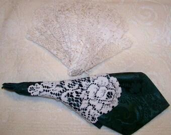 Vintage Heritage Lace Napkin Sleeves - Ecru - Set Of 8 - Cecelia - Marie - 123