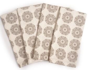 "Cloth Napkins - Vintage Gray, Set of 4 - 18"" x 18"" each"