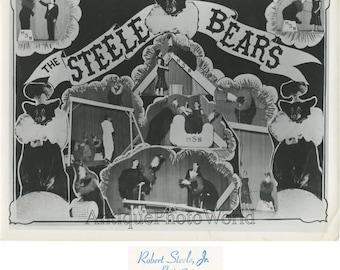 Robert Steele Bear show animal act vintage circus photo