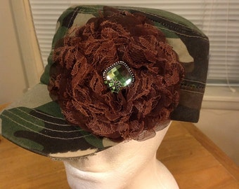 Camo Shabby Chic Cadet Hat