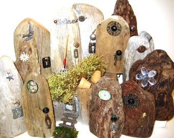Fantasy garden door on etsy a global handmade and vintage for Idea behind fairy doors