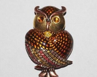 RARE Joan Rivers Owl Pin Brooch            - S1239
