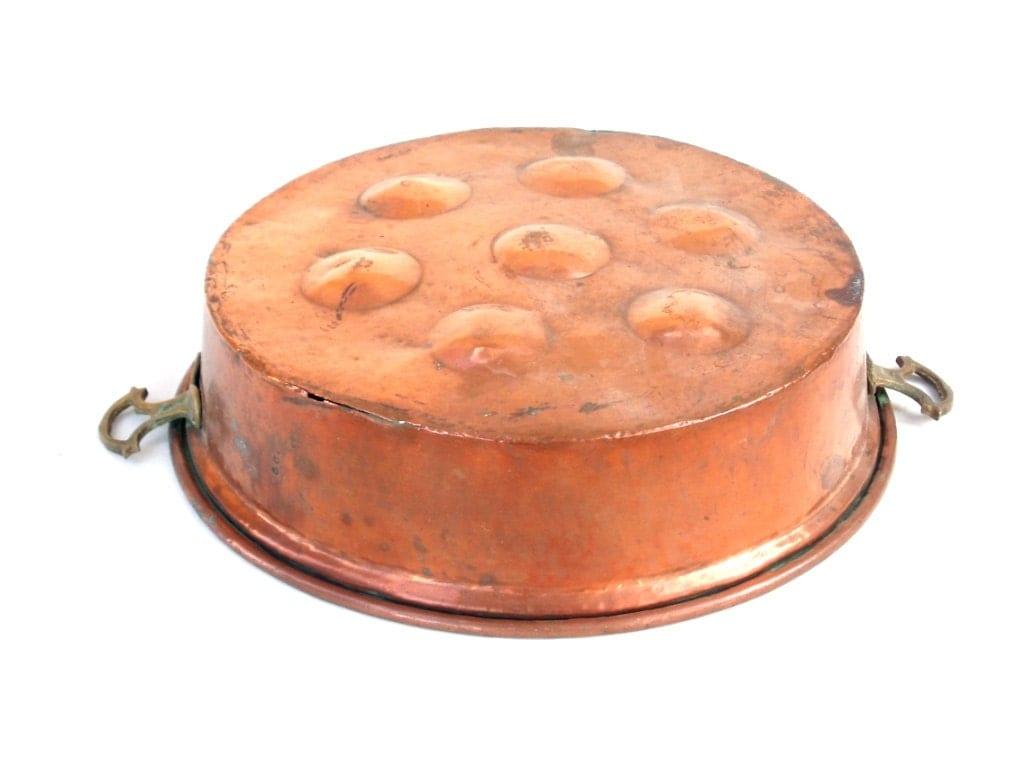 Large French Copper Mould Antique Gateaux Cake Pan Baking Tin