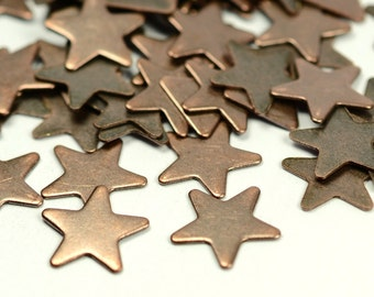 200 Pieces Antique Copper  9 mm Star Findings
