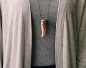 Naturally Shed Elk Antler Tip Necklace