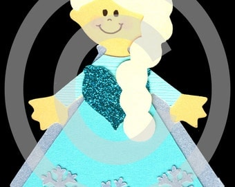 Princess Elsa Frozen Scrapbook Die Cut Paper Doll Disney Project Life