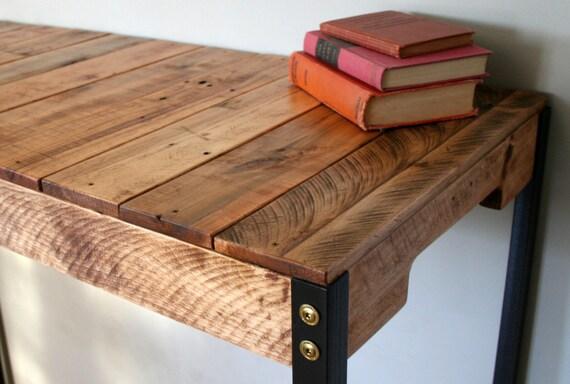 Standing Desk Industrial Rustic Reclaimed Wood Standing Desk